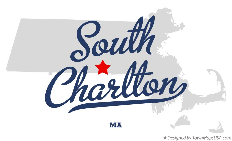 Map of South Charlton Massachusetts MA