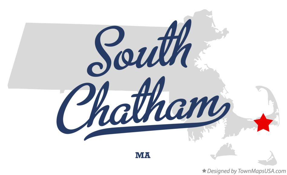 Map of South Chatham Massachusetts MA