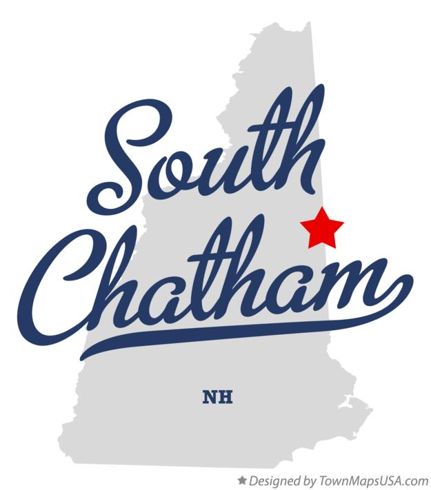 Map of South Chatham New Hampshire NH