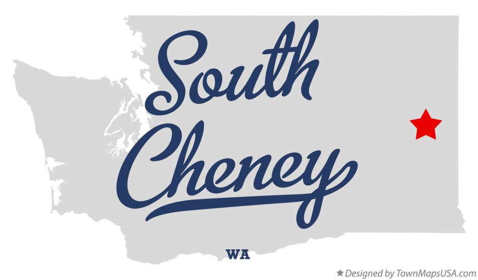 Map of South Cheney Washington WA