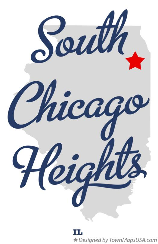 Map of South Chicago Heights Illinois IL