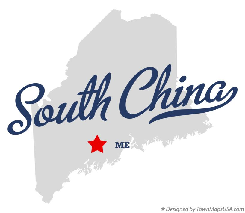 Map of South China Maine ME