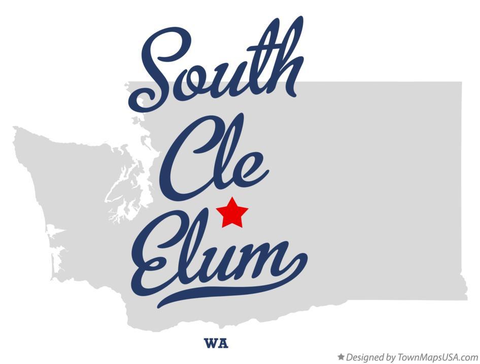 Map Of South Cle Elum Wa Washington