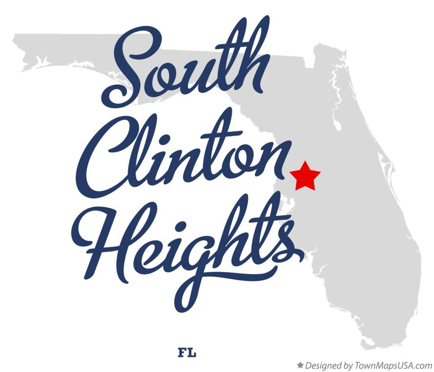Map of South Clinton Heights Florida FL