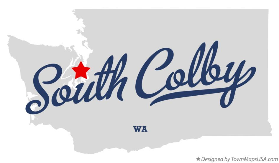Map of South Colby Washington WA