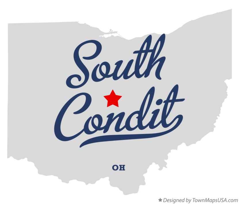 Map of South Condit Ohio OH