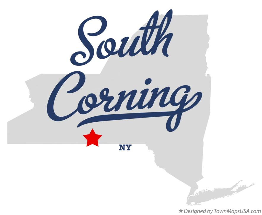 Map of South Corning New York NY