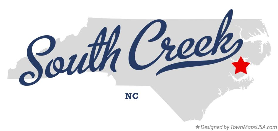 Map of South Creek North Carolina NC