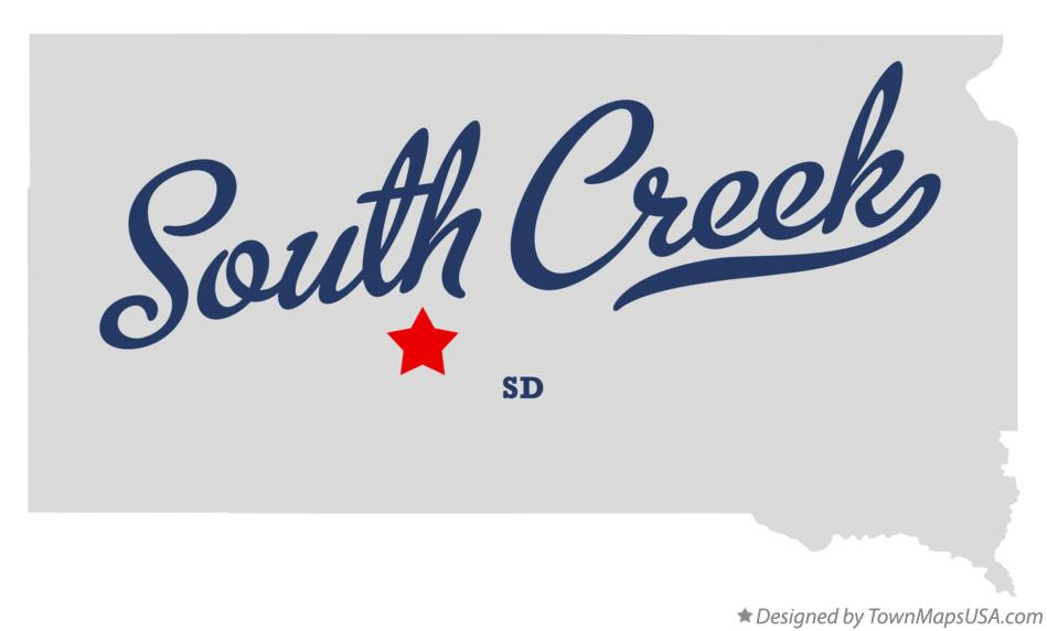 Map of South Creek South Dakota SD