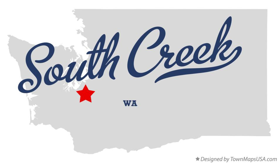 Map of South Creek Washington WA