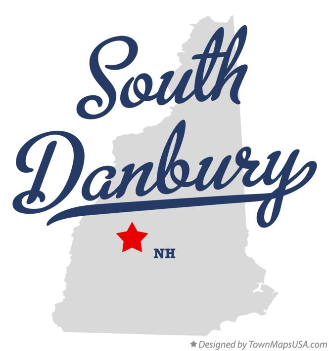 Map of South Danbury New Hampshire NH