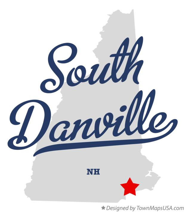 Map of South Danville New Hampshire NH