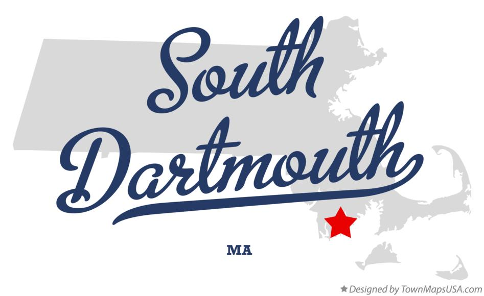 Map of South Dartmouth Massachusetts MA
