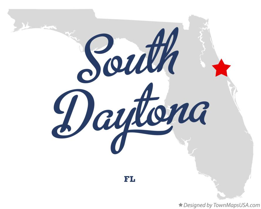 Map of South Daytona Florida FL
