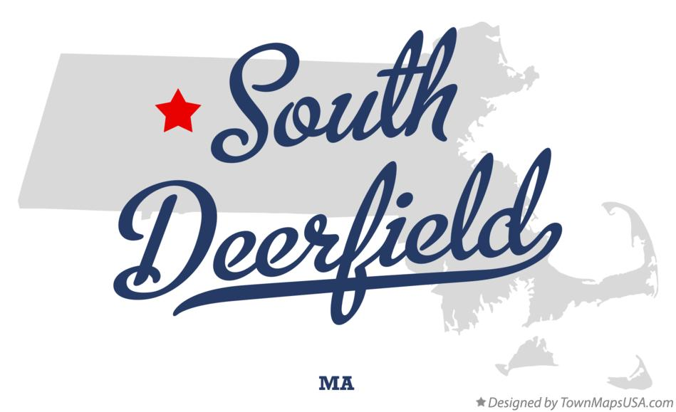 Map of South Deerfield Massachusetts MA