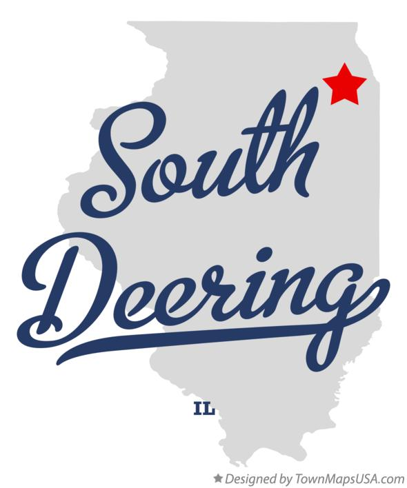 Map of South Deering Illinois IL