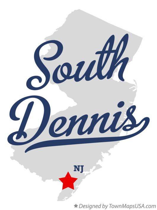 Map of South Dennis New Jersey NJ
