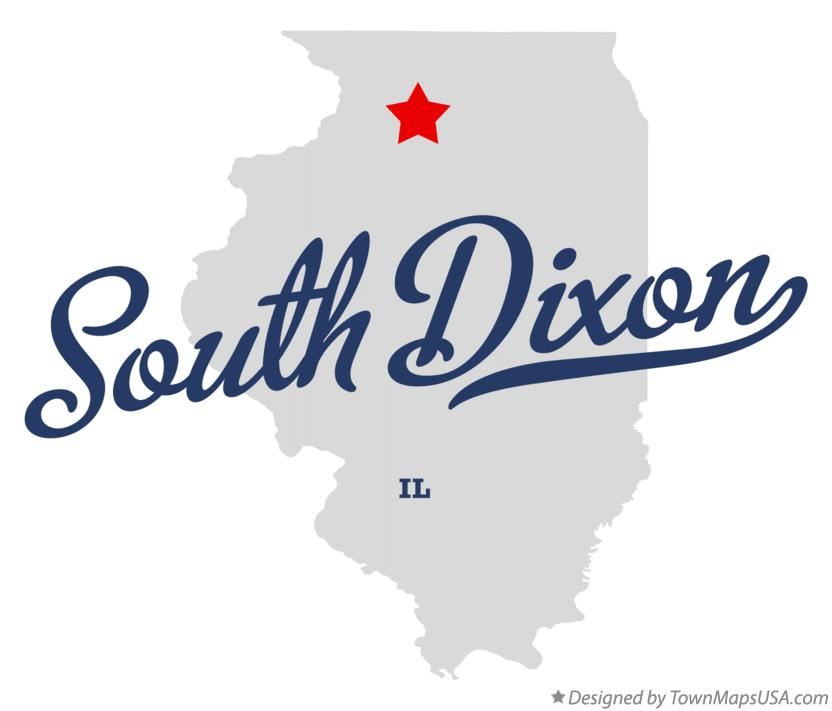 Map of South Dixon Illinois IL