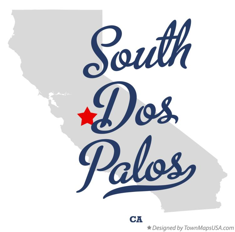 Map of South Dos Palos California CA