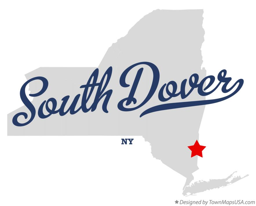 Map of South Dover New York NY