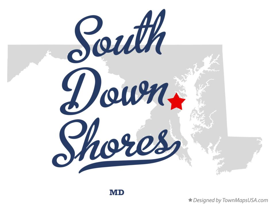 Map of South Down Shores Maryland MD