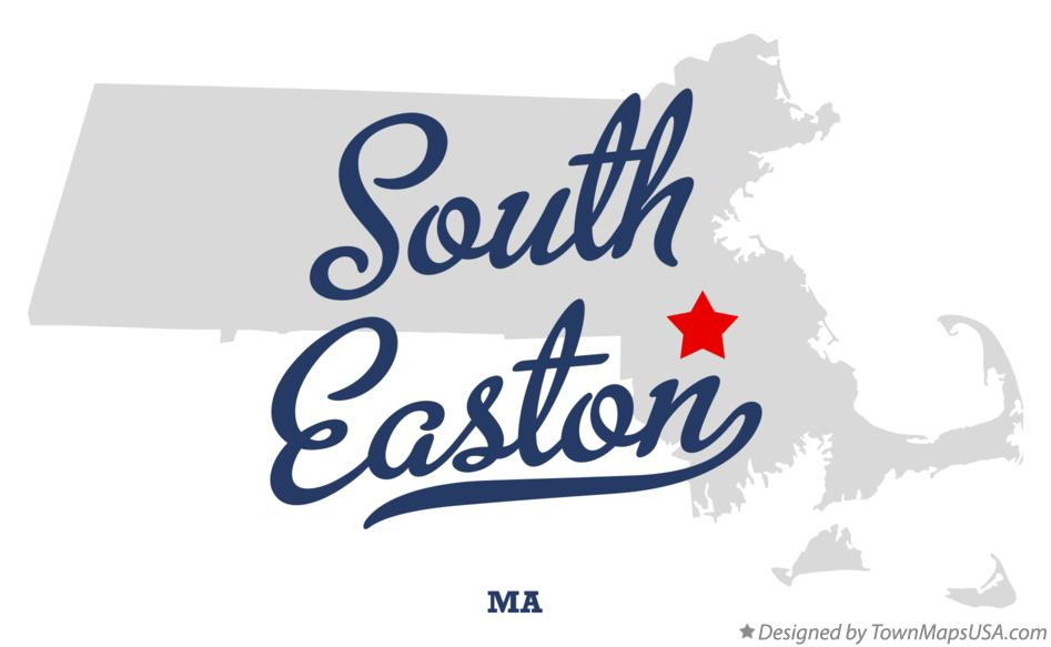 Map of South Easton Massachusetts MA