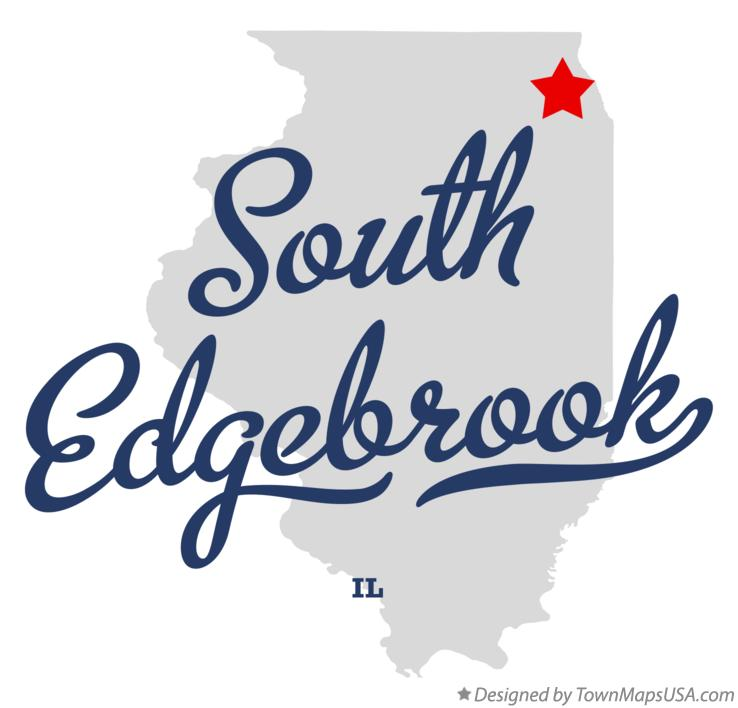 Map of South Edgebrook Illinois IL