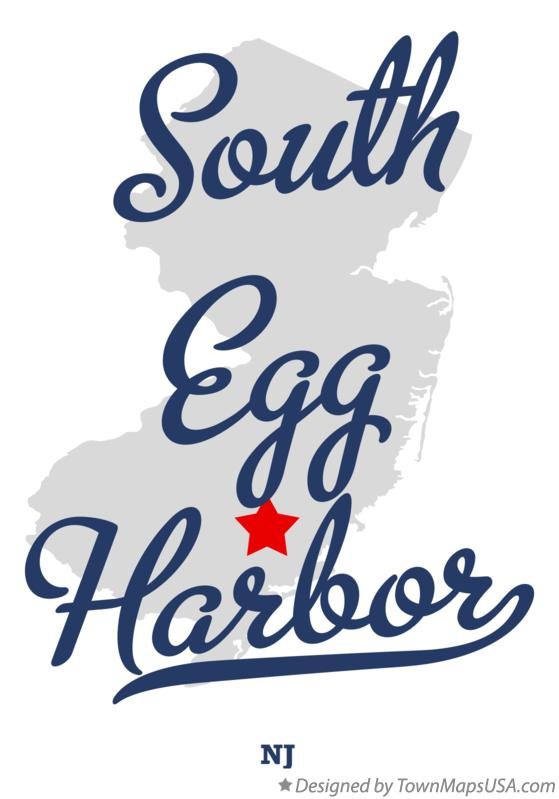 Map of South Egg Harbor New Jersey NJ