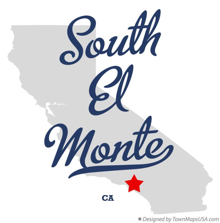 Map of South El Monte California CA