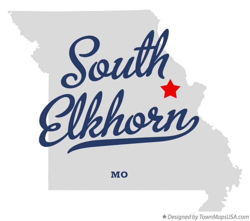 Map of South Elkhorn Missouri MO