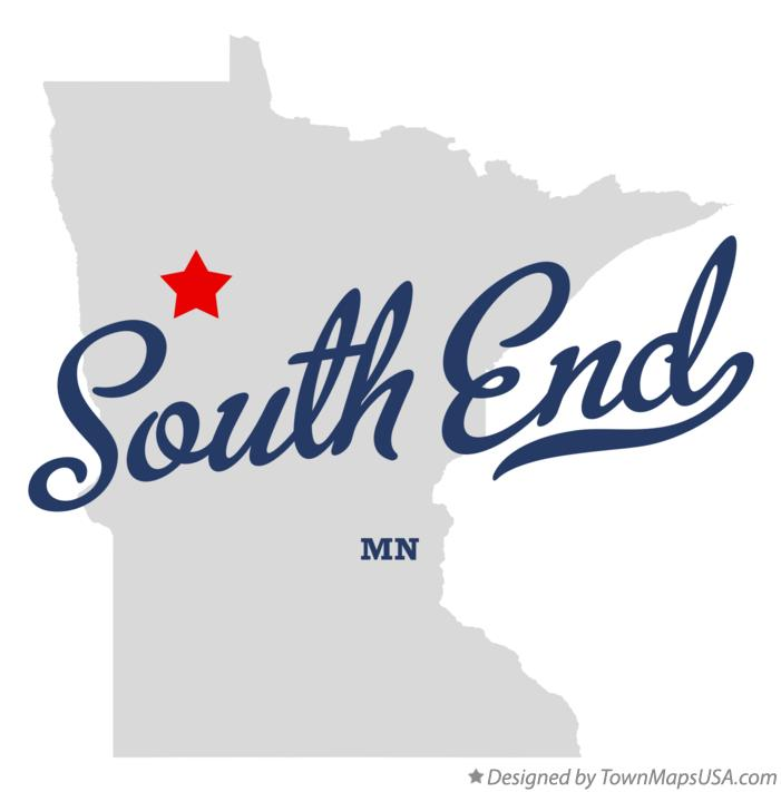 Map of South End Minnesota MN