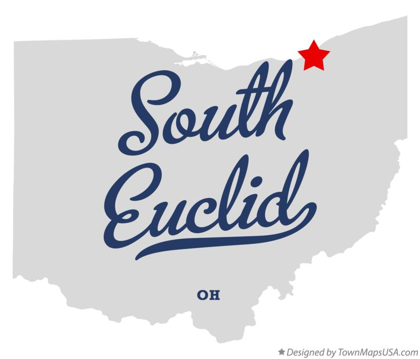 Map of South Euclid Ohio OH