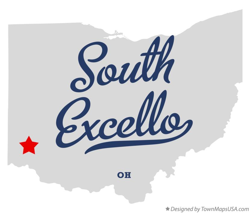 Map of South Excello Ohio OH