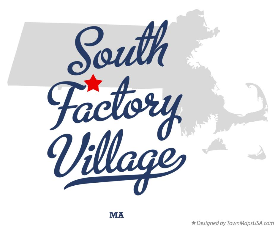Map of South Factory Village Massachusetts MA