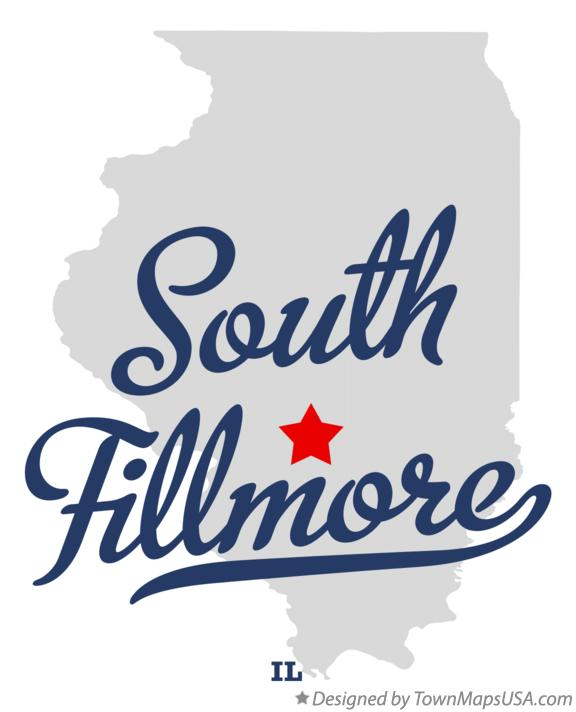 Map of South Fillmore Illinois IL
