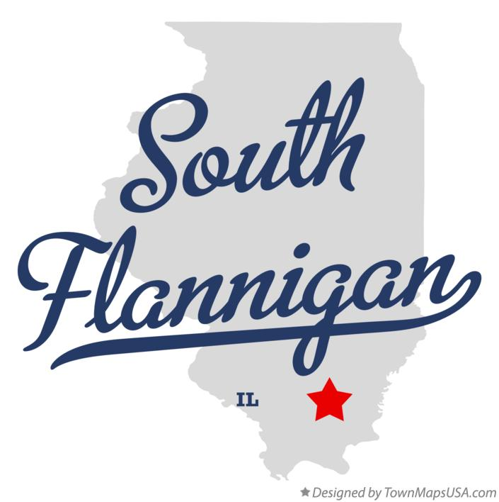 Map of South Flannigan Illinois IL