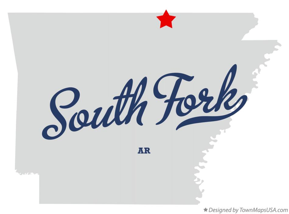 Map of South Fork Arkansas AR