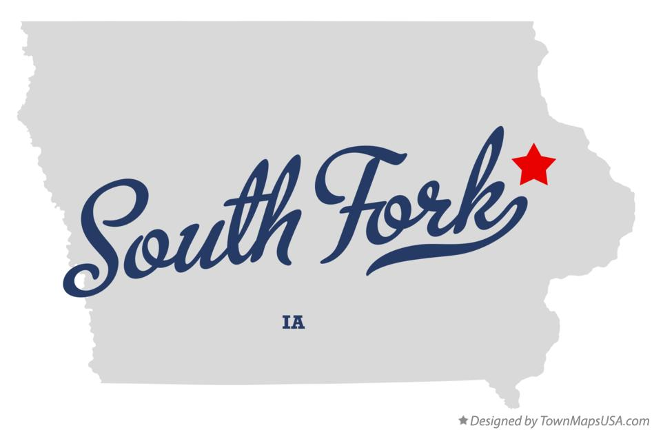 Map of South Fork Iowa IA