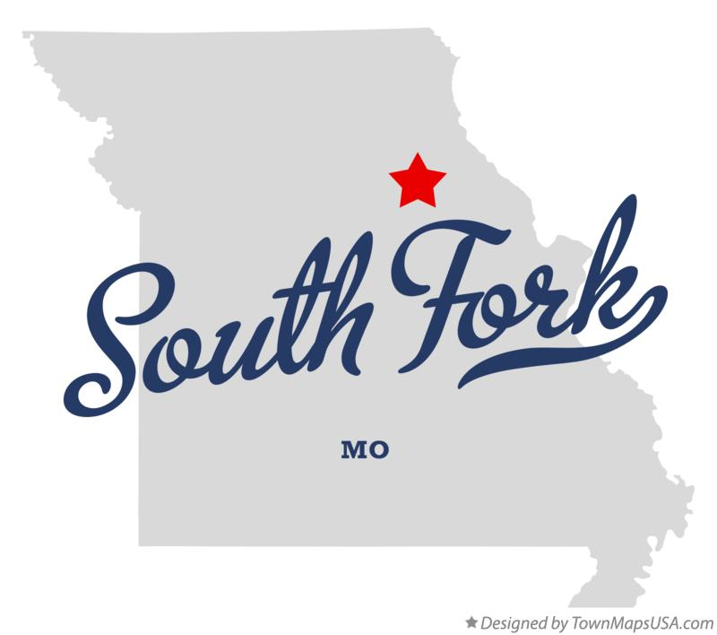 Map of South Fork Missouri MO