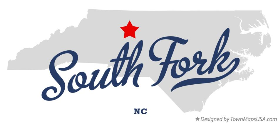 Map of South Fork North Carolina NC
