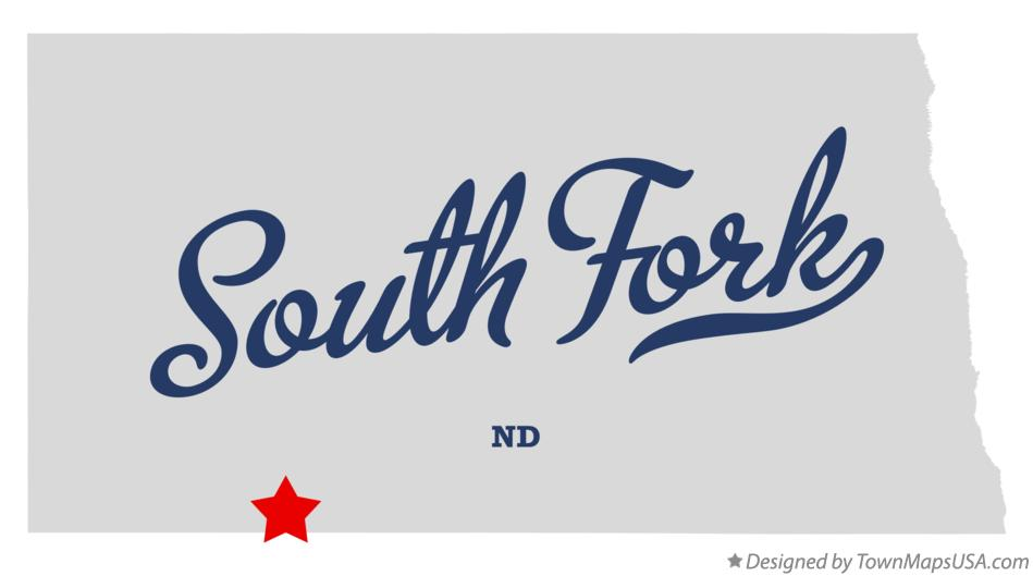 Map of South Fork North Dakota ND