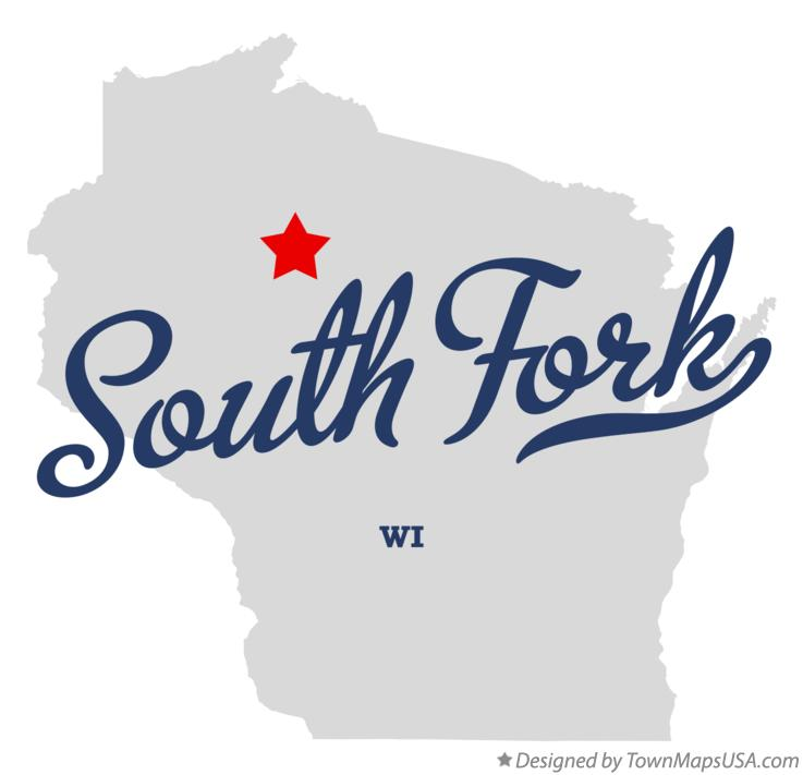 Map of South Fork Wisconsin WI