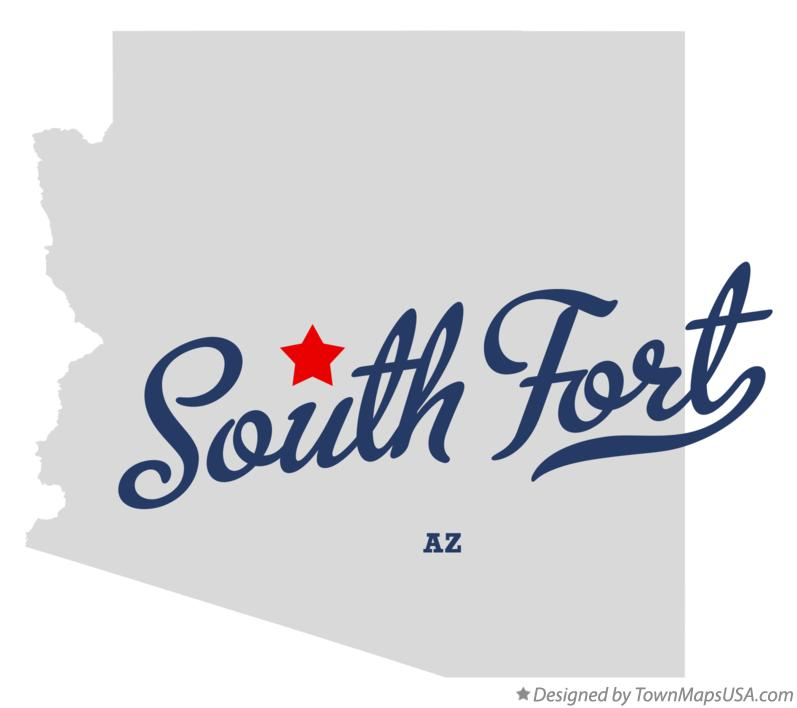 Map of South Fort Arizona AZ