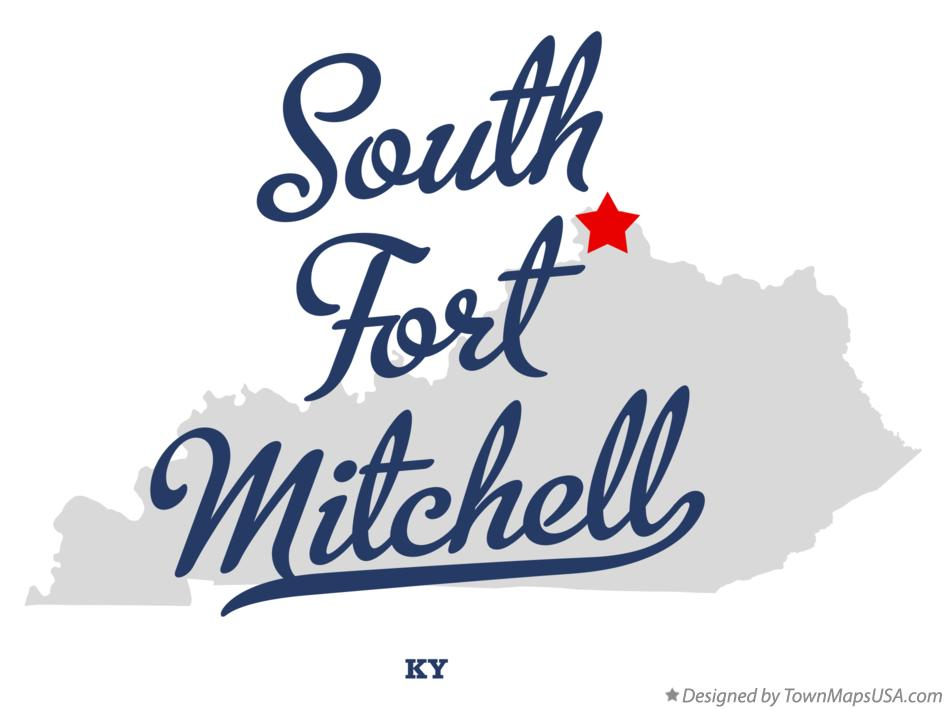 Map of South Fort Mitchell Kentucky KY