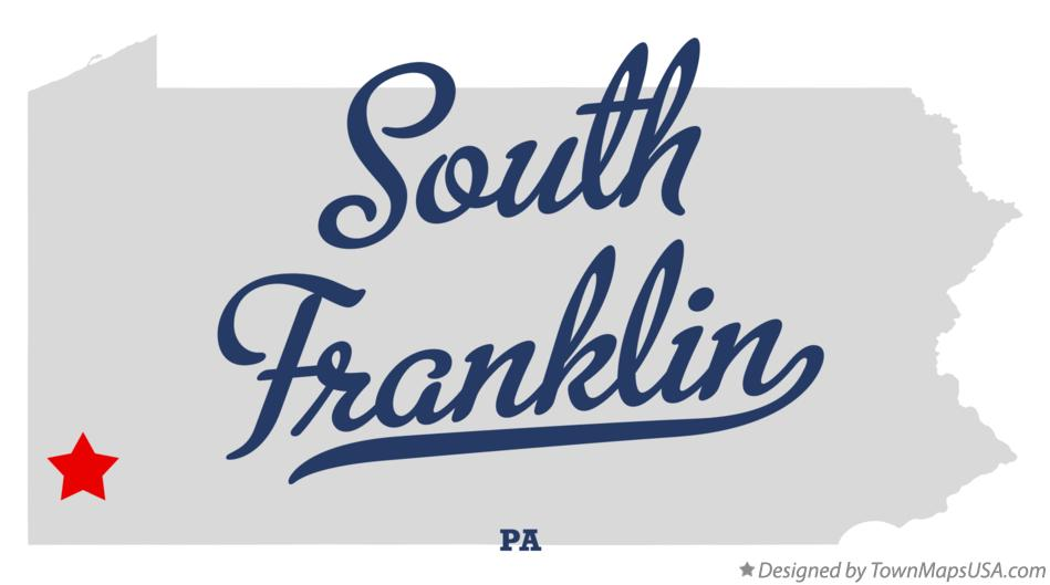 Map of South Franklin Pennsylvania PA