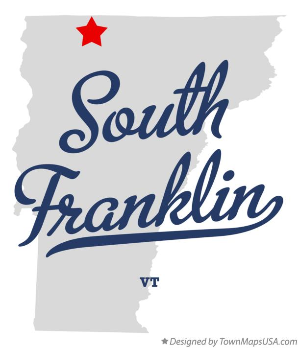 Map of South Franklin Vermont VT