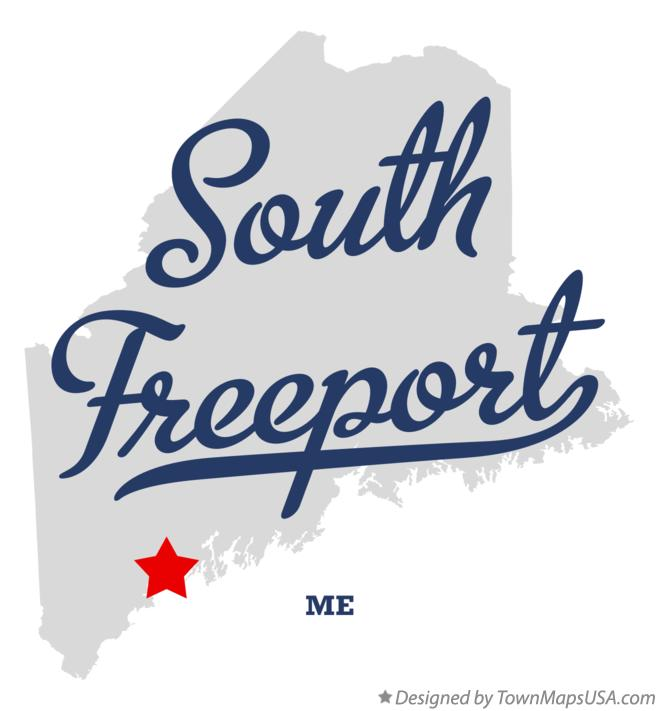 Map of South Freeport Maine ME