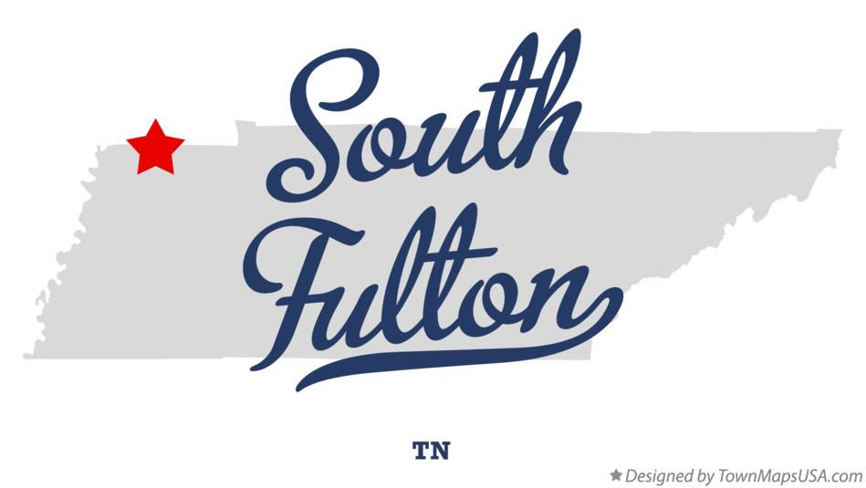 Map of South Fulton Tennessee TN