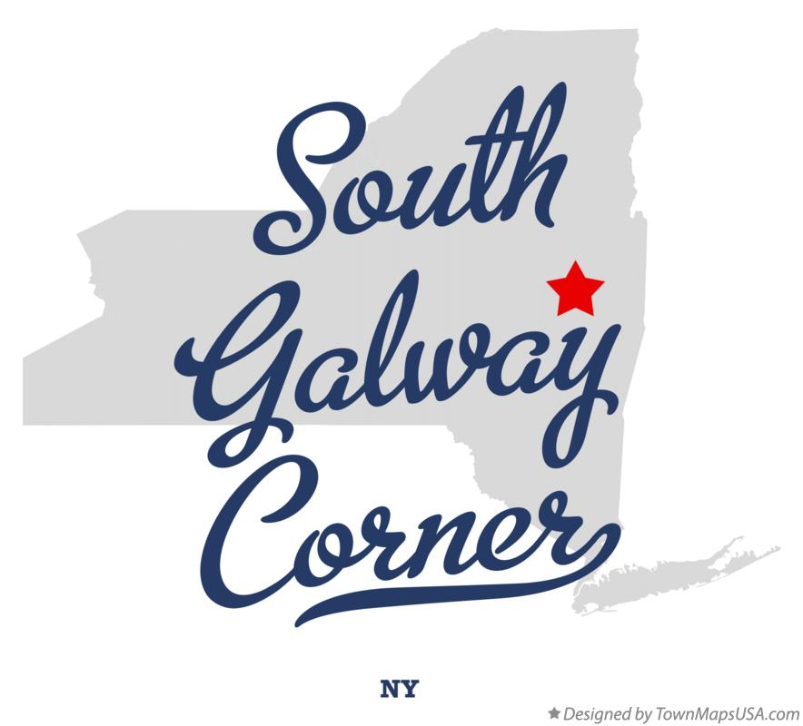 Map of South Galway Corner New York NY