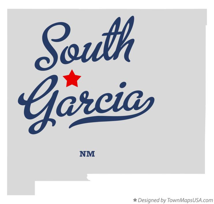 Map of South Garcia New Mexico NM